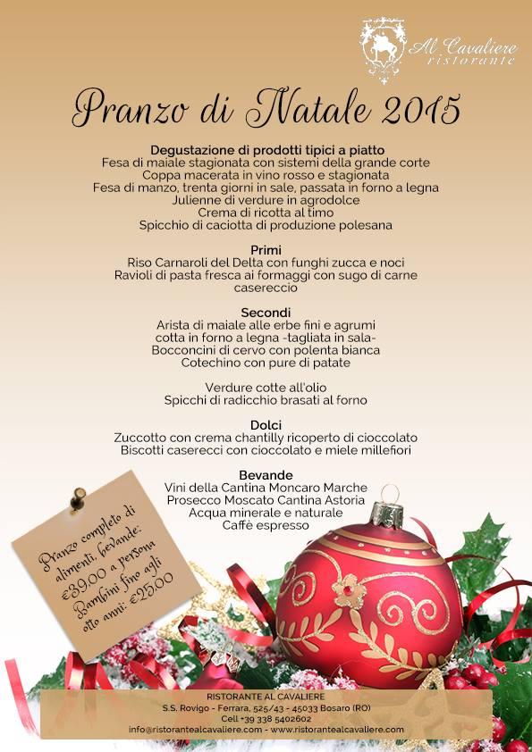 Pranzo Di Natale Ristorante Al Cavaliere Rovigo